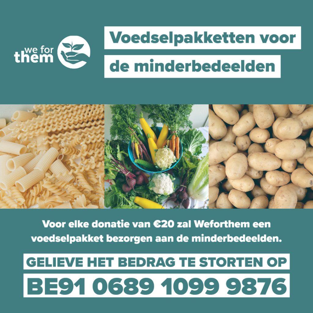 Voedselpakketten voor de minderbedeelden